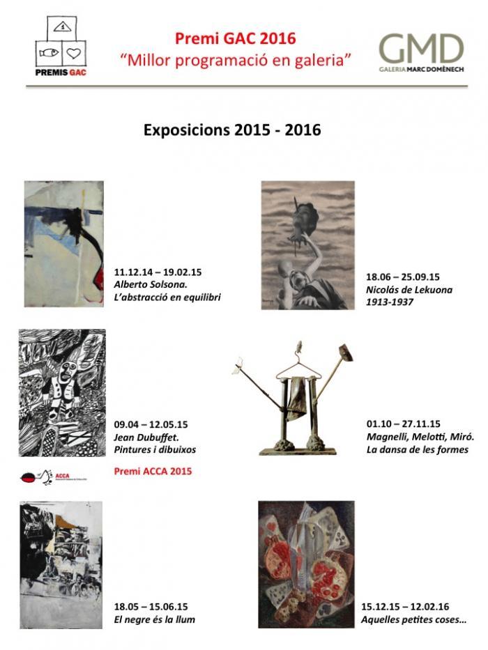 Exposicions 2015-2016