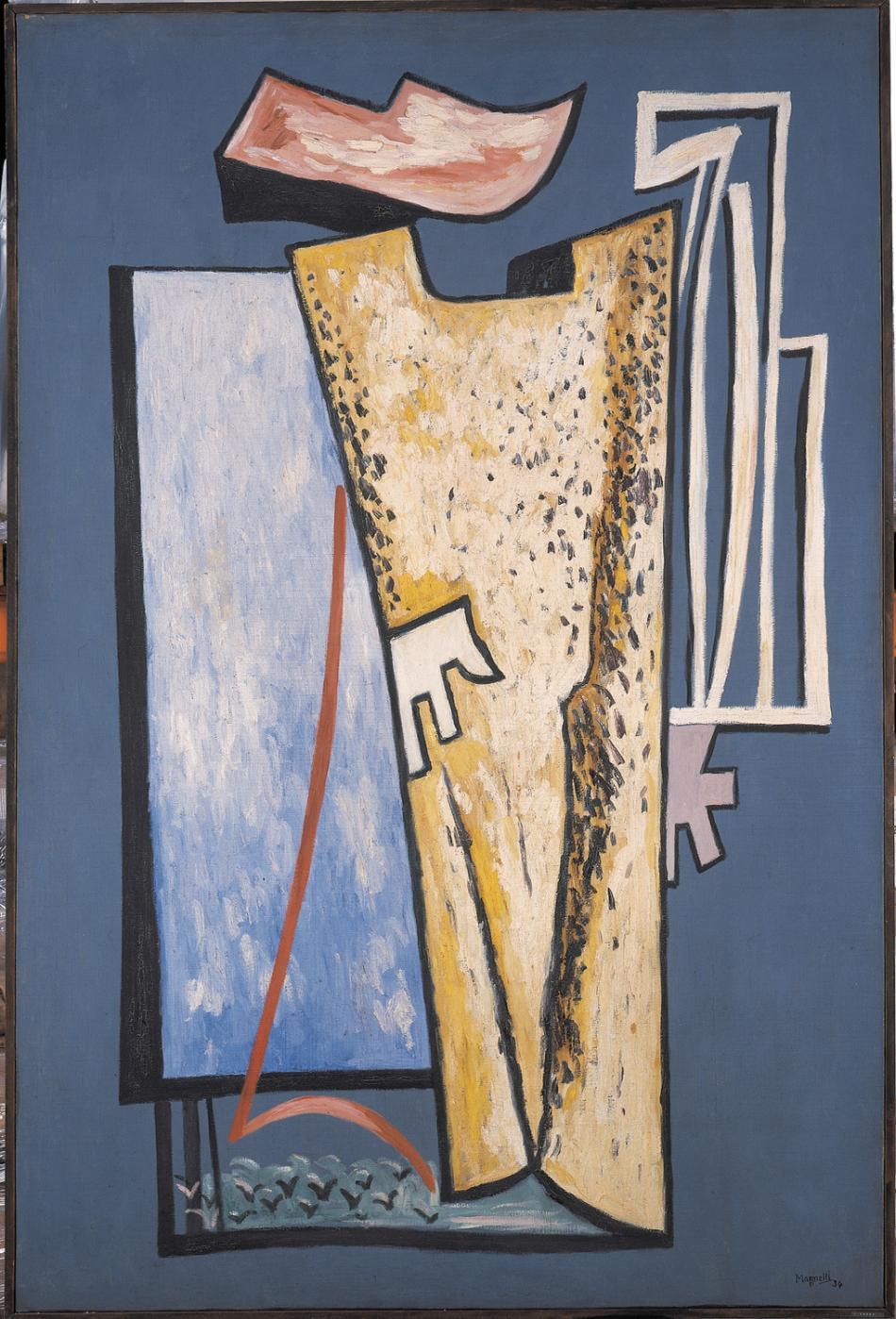 Alberto Magnelli Double Image 1934 Oil On Canvas 195 X 130 Cm