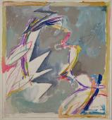 "Alberto Solsona, ""Primer boceto de Carmen"", 1986 watercolor on paper 32,5 x 30 cm."