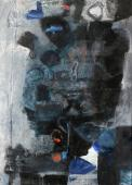 "Antoni Clavé, ""Guerrier"", 1961 mixed media on canvas 100 x 73 cm."