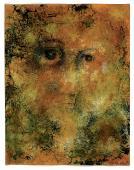 """Léon Tutundjian, """"Visage d'or"""", 1925 gouache, acuarela y tinta sobre papel 27 x 21 cm"""