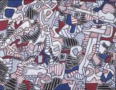 """Jean Dubuffet, """"Société d'outillage"""", 1964 oli sobre tela 89 x 116 cm. (Fondation Jean et Suzanne Planque, Lausanne. © Luc Chessex)"""