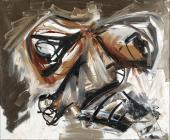 "Antonio Saura, ""Autoretratto 2"", 1966 oil on canvas 60 x 73 cm"