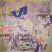 "Alberto Solsona, ""Arabesco azul"", 1982 oli sobre tela 190 x 190 cm."