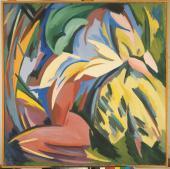 "Alberto Magnelli, ""Explosion lyrique n º 12"", 1918 oil on canvas 130 x 130 cm."