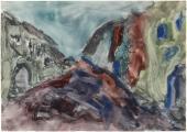 """Luis Claramunt, """"Sin título"""", 1985 acuarela sobre cartulina 22,5 x 32 cm"""