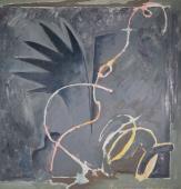 "Alberto Solsona, ""Jardín botánico I"", 1986 oli sobre tela 160 x 160 cm."