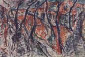 "Luis Claramunt, ""Alameda IV"", 1985 óleo sobre tela 200 x 300 cm"