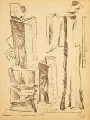 "Alberto Magnelli, ""Pierres, 10 août 1931"", 1931 ink on paper 33,9 x 25,6 cm."