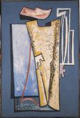 """Alberto Magnelli, """"Double image"""", 1934 oil on canvas 195 x 130 cm."""