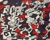 """Jean Dubuffet, """"Logologie"""", 1967 retolador sobre paper 24 x 29,5 cm."""