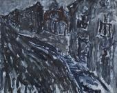 "Luis Claramunt, ""Sin título"", oli sobre tela 81 x 100 cm"