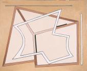 """Alberto Magnelli, """"Signes constants"""", 1968 oil on canvas 81 x 100 cm."""
