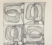 "Manuel Ángeles Ortiz, ""Cabezas"", 1970 ink on paper 14,5 x 16 cm."