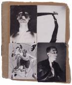 """Nicolás de Lekuona, """"Collage con cuatro fotografías"""", c.1934 muntatge sobre paper 15,5 x 13 cm. c/u."""