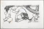 "Albert Gleizes, ""Métaphore amoureuse"", 1910 pencil and gouache on paper 10,4 x 16,1 cm."