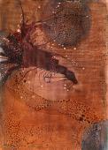 """Magda Bolumar, """"Sin título"""", 1972 pintura acrílica, tinta y goma laca sobre cartulina 35 x 25 cm"""