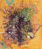 """Magda Bolumar, """"Sin título"""", 1963 tinta y goma laca sobre cartulina 25 x 22 cm"""