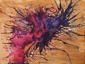 """Magda Bolumar, """"Sin título"""", 1963 tinta y goma laca sobre cartulina 19,5 x 25,5 cm"""