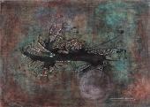 """Magda Bolumar, """"Sin título"""", 1971 pintura acrílica, tinta y goma laca sobre cartulina 35 x 49 cm"""