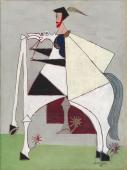 "Óscar Domínguez, ""Cavalier"", 1949 oil on canvas 61,5 x 46 cm"