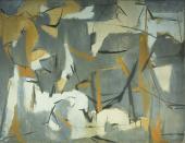 """Esteban Vicente, """"Number 5"""", 1950 oli sobre tela 89 x 115 cm (Col. Museo de Arte Contemporáneo Esteban Vicente, Segovia)"""