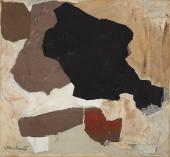 "Esteban Vicente, ""Black and White"", 1961 collage sobre tela 60 x 65 cm"