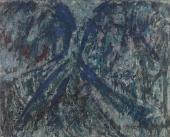 """Luis Claramunt, """"Madrid"""", 1985 óleo sobre tela 81 x 100 cm"""