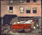 """Joaquín Torres-García, """"Ice cream"""", 1948 óleo sobre tela 50 x 60 cm."""