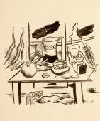 """Fernand Léger, """"Nature morte au broc"""", 1949, tinta sobre papel 31,5 x 26,5 cm."""