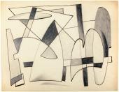 """Alberto Magnelli, """"Sans titre"""", c.1938 tinta i llapis sobre paper 21 x 27 cm."""