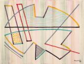 "Alberto Magnelli, ""Sans titre"", 1959 retoladors sobre paper de tapisseria 47,5 x 63,5 cm."