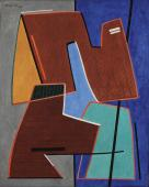 "Alberto Magnelli ""Élements"" 1964 oil on canvas 92 x 73 cm"