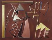 """Alberto Magnelli, """"Conciliabules distraits"""", 1935 óleo sobre tela 100 x 130 cm."""