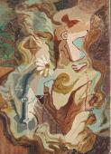 André Masson, 'La Reine-Marguerite', 1926 oli sobre tela 46,2 x 33 cm