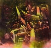 "Roberto Matta, ""Geyser de la mémoire"", 1972-74 oil on canvas 204 x 218 cm"