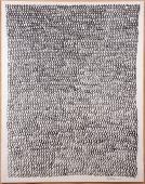 "H.Pijuan, ""Marroc II"", 1991 charcoal on paper 157 x 120 cm"