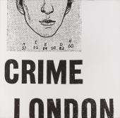"Joan Rabascall, ""Crime London"", 1971 emulsión fotográfica sobre tela 120 x 120 cm"