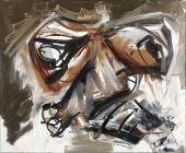 """Antonio Saura """"Autoretratto 2"""" 1966 oli sobre tela 60 x 73 cm"""