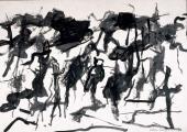 """Esteban Vicente, """"Sin título"""", 1967 tinta sobre papel 48,5 x 70 cm"""