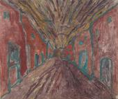 "Luis Claramunt, ""Sin título (Cañizo)"", 1986 oli sobre tela 81 x 100 cm"