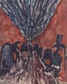 """Luis Claramunt, """"El Hamman"""", 1986 oli sobre tela 100 x 81 cm"""