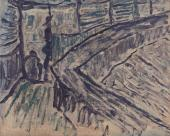 "Luis Claramunt, ""La taberna II"", 1985 óleo sobre tela 81 x 100 cm"