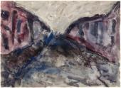 """Luis Claramunt, """"Sin título"""", 1985 acuarela sobre cartulina 24 x 34 cm"""