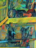 """Maurice Estève, """"Nature morte devant la fenetre"""", 1942 oil on canvas 61 x 45 cm"""