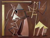 """Alberto Magnelli, """"Conciliabules distraits"""", 1935 oil on canvas 100 x 130 cm."""