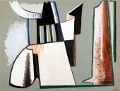 "Alberto Magnelli, ""Pierres"", c.1931 gouache on carton 47 x 62 cm."