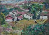 "Joan Miró, ""Village"", 1915 oil on canvas on cardboard 16 x 22 cm © Successió Miró 2020"