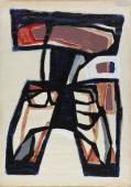 """Jaume Sans, """"Untitled"""", 1954-1957 gouache on paper 66 x 48 cm"""