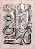 """Jaume Sans, """"Untitled"""", 1954-1957 gouache on paper 60,3 x 44 cm"""